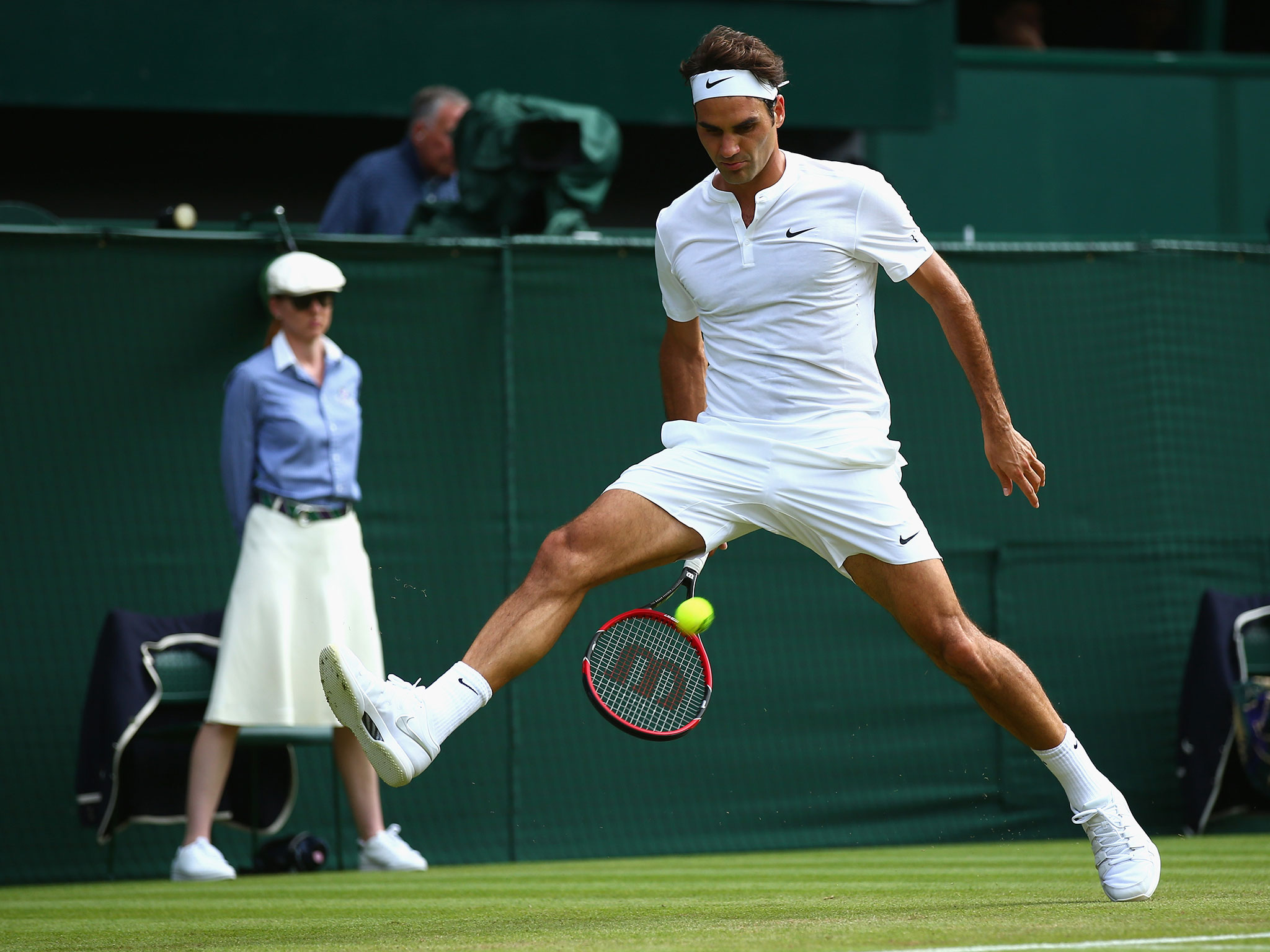 Tennis: Roger Federer wins his 18th grass-court title with a win over Milos Raonic at the Mercedes Cup in Stuttgart.
