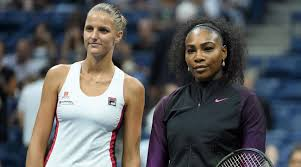 Serena Williams and Karolina Pliskova