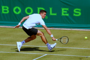 Milos Raonic on the Grass