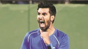 Prajnesh Gunneswaran win his first match on the main draw of a tour level event