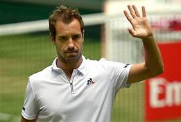 Richard Gasquet on the grass