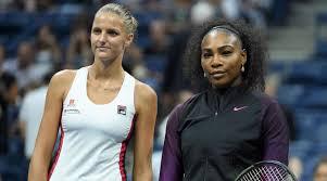 Serena Williams and Karolina Pliskova