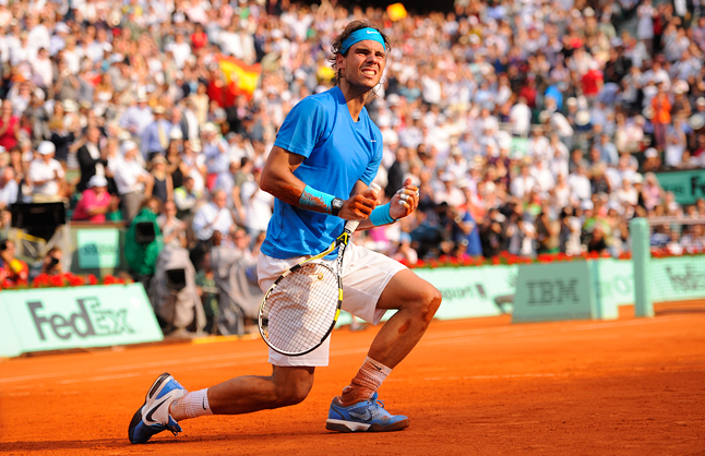 Rafael Nadal the king of clay
